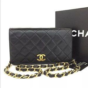 CHANEL CC Push Lock Gold Chain Mini Leather Bag